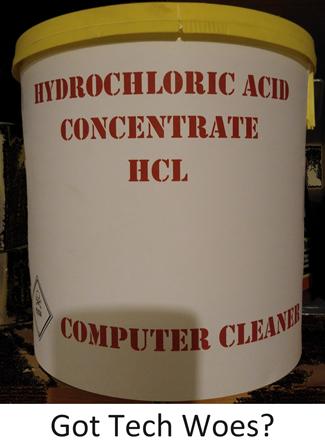 Acid wash computers