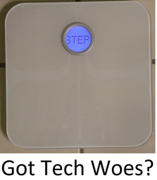 Fitbit scale problems